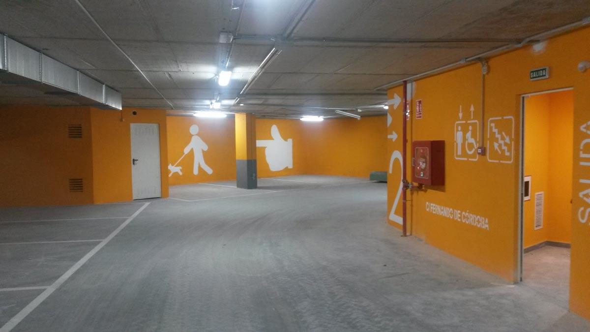 Realizamos el pintado de suelos y paredes de parkings y garajes pinturas losan - Pintura suelo parking ...